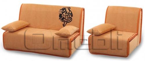 Принт Аккордеон комплект (диван кресло) Ткань Монтана оранж A32129