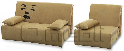 Принт Аккордеон комплект (диван кресло) Ткань Монтана шоко A32124