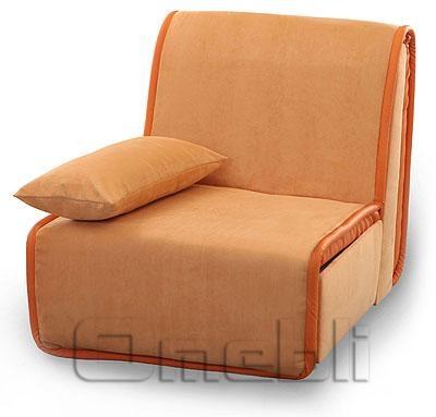 Принт Аккордеон кресло Ткань Монтана оранж A32117