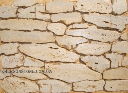 Природный, облицовочный камень известняк Золотистый