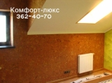 Пробковая плитка. Поклейка пробкового покрытия на стену по подготовленной поверхности.