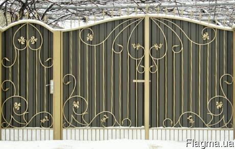 Фото 2 Ворота кованые с калиткой 332647