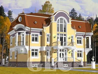 Проект Alfresco площадью 580 кв. м. Фешенебельный особняк в стиле «модерн».