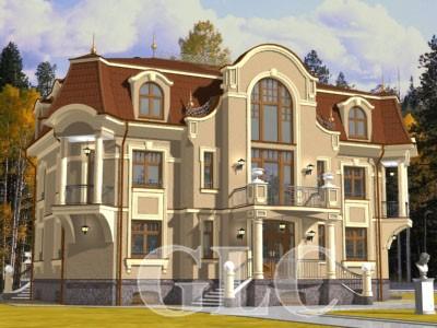 Проект Alfresco площадью 680 кв. м. Фешенебельный особняк в стиле «модерн» с мансардой.