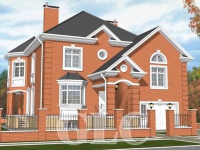 Проект дома Ontario площадью 400 кв. м. Уютный особняк со всеми удобствами для проживания семьи из 3-4 человек.