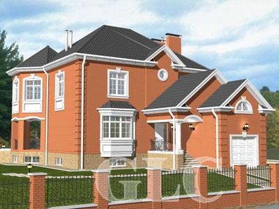 Проект дома Orlando площадью 334 кв. м. Уютный особняк со всеми удобствами для проживания семьи из 3-4 человек.