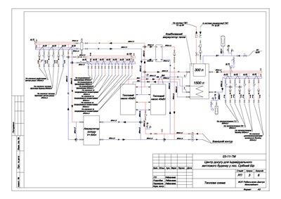 Проект источника теплохолодоснабжения на базе 2х тепловых насосов. Раздел (ТМ)