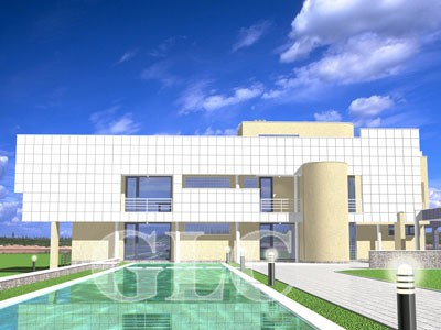 Проект Sarepto площадью 690 кв. м. Современная резиденция на берегу Днепра.