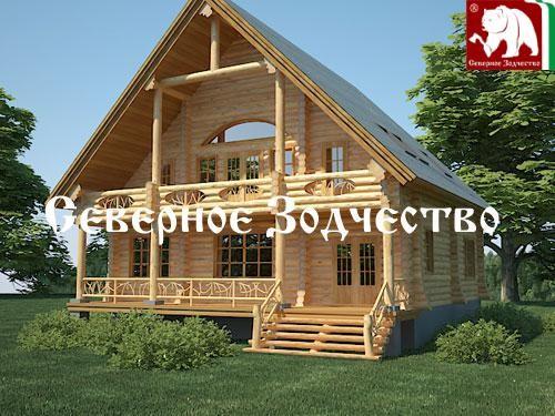 Проект сруба 3-103. Дом по проекту №3-103 (S=240 кв. м, диаметр бревна 22-24 см, высота потолков 2,8 м) ручной рубки.