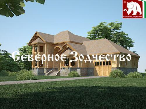 Проект сруба 3-109. Дом по проекту №3-109 (S=349 кв. м, диаметр бревна 22-24 см, высота потолков 2,8 м) ручной рубки.