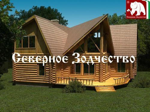 Проект сруба 3-111. Дом по проекту №3-111 (S=269 кв. м, диаметр бревна 22-24 см, высота потолков 2,8 м) ручной рубки.