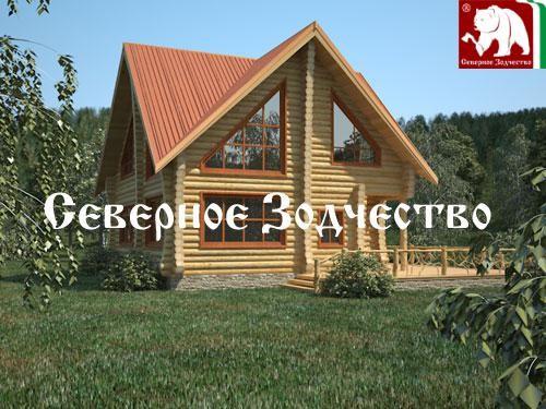 Проект сруба 3-115. Дом по проекту №3-115 (S=156 кв. м, диаметр бревна 22-24 см, высота потолков 2,8 м) ручной рубки.
