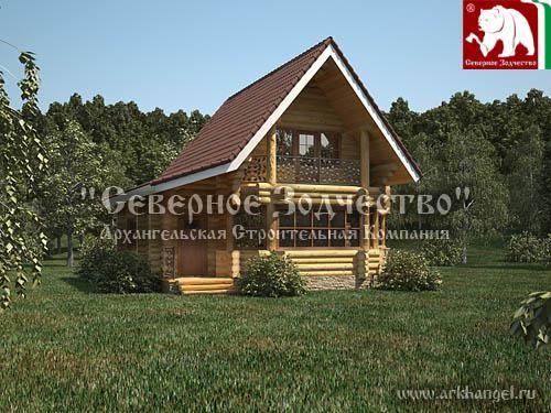 Проект сруба 3-125. Дом по проекту №3-125 (S=122 кв. м, диаметр бревна 22-24 см, высота потолков 2,8 м) ручной рубки.