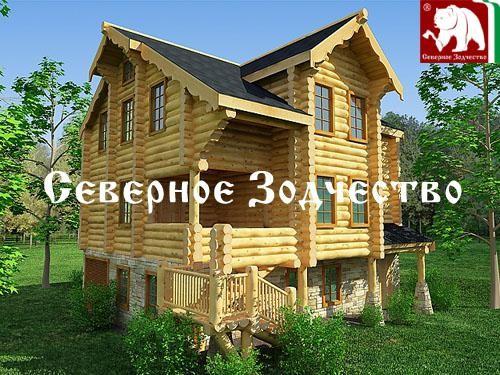Проект сруба 3-138. Дом по проекту №3-138 (S=198 кв. м, диаметр бревна 22-24 см, высота потолков 2,8 м) ручной рубки.