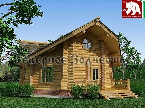 Проект сруба 3-150. Дом по проекту №3-150(S=102 кв. м, диаметр бревна 22-24 см, высота потолка 2,8 м) ручной рубки.