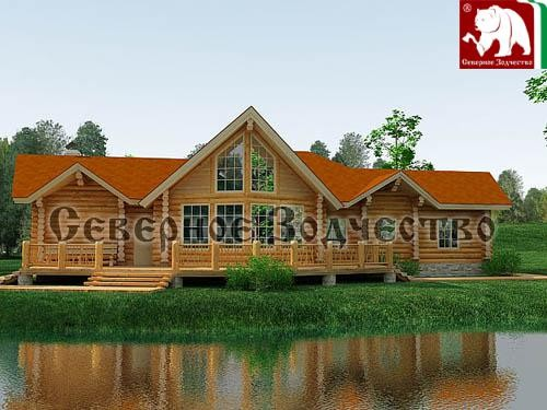 Проект сруба 3-156. Дом по проекту №3-156 (S=174 кв. м, диаметр бревна 22-24 см, высота потолков 2,8 м) ручной рубки.