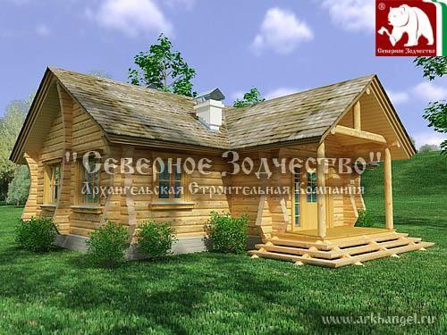 Проект сруба 3-167. Дом по проекту №3-191(S=170 кв. м, диаметр бревна 22-24 см, высота потолка 2,8 м) ручной рубки.