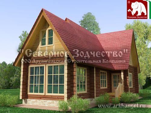 Проект сруба 3-175. Дом по проекту №3-175 (S=179 кв. м, диаметр бревна 22-24 см, высота потолков 2,8 м) ручной рубки.