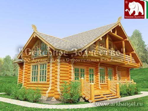 Проект сруба 3-179. Дом по проекту №3-179 (S=188 кв. м, диаметр бревна 22-24 см, высота потолков 2,8 м) ручной рубки.