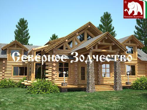 Проект сруба 3-54. Дом по проекту №3-54 (S=424 кв. м, диаметр бревна 22-24 см, высота потолков 2,8 м) ручной рубки.