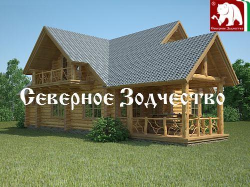 Проект сруба 3-58. Дом по проекту №3-58 (S=210 кв. м, диаметр бревна 22-24 см, высота потолков 2,8 м) ручной рубки.
