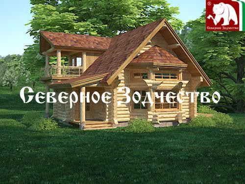 Проект сруба 3-65. Дом по проекту №3-65 (S=205 кв. м, диаметр бревна 22-24 см, высота потолков 2,8 м) ручной рубки.
