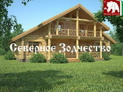 Проект сруба 3-69. Дом по проекту №3-69 (S=220 кв. м, диаметр бревна 22-24 см, высота потолков 2,8 м) ручной рубки.