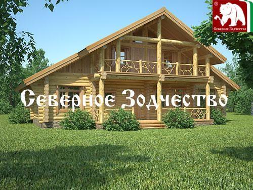 Проект сруба 3-69. Дом по проекту №3-69 (S=220 кв. м, диаметр бревна 22-24 см, высота потолков 2,8 м) ручной рубки