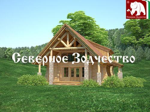 Проект сруба 3-71. Дом по проекту №3-71 (S=204 кв. м, диаметр бревна 22-24 см, высота потолков 2,8 м) ручной рубки.