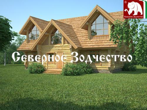 Проект сруба 3-73. Дом по проекту №3-3-73 (S=223 кв. м, диаметр бревна 22-24 см, высота потолков 2,8 м) ручной рубки.