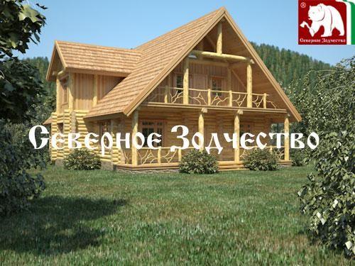 Проект сруба 3-87. Дом по проекту №3-87 (S=176 кв. м, диаметр бревна 22-24 см, высота потолков 2,8 м) ручной рубки.