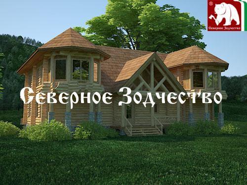 Проект сруба 3-91. Дом по проекту №3-91 (S=432 кв. м, диаметр бревна 22-24 см, высота потолков 2,8 м) ручной рубки.