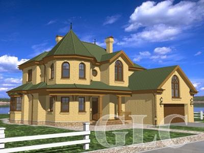 Проект жилого дома Country площадью 410 кв. м. Просторный загородный особняк в популярном стиле «кантри».