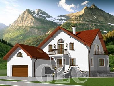 Проект жилого дома Diamond площадью 510 кв. м. Красивый, элегантный, просторный особняк в современном европейском стиле.