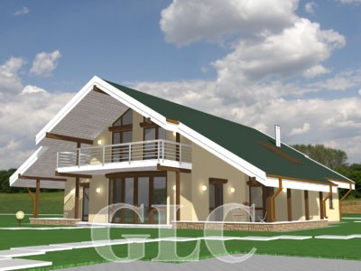 Проект жилого дома Ilantra площадью 291 кв. м. Престижная загородная резиденция в романтическом стиле.