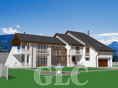 Проект жилого дома Legend площадью 490 кв. м. Оригинальный просторный городской особняк в современном стиле.