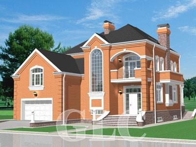 Проект жилого дома Toronto площадью 530 кв. м. Городской респектабельный особняк.