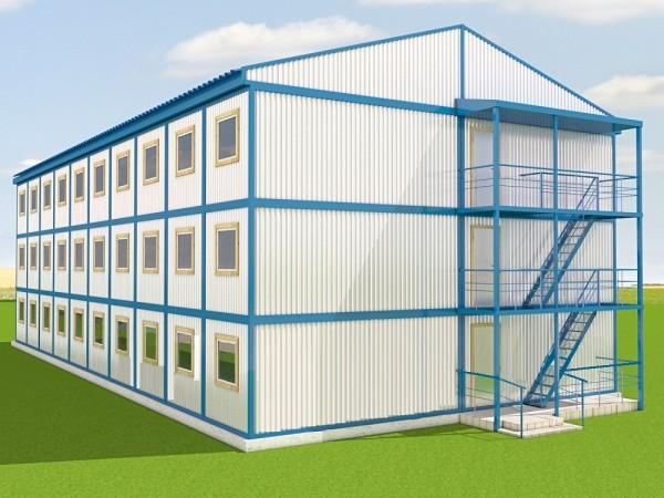 Проектирование, изготовление , монтаж модульных зданий общежитий в 1-3 этажа.