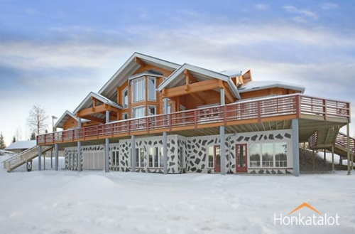 Проектирование, строительство деревянных домов. Типовой проект финского деревянного коттеджа.