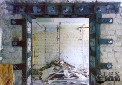 Проем в несущей стене Днепропетровск