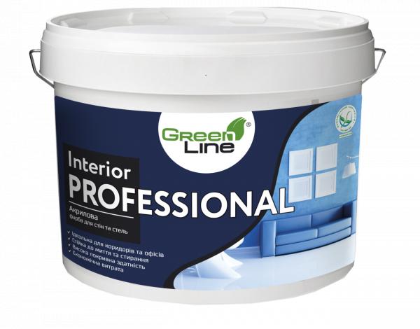 Фото  1 Краска акриловая стойкая к мытью Interior Professional 10 л 2399551