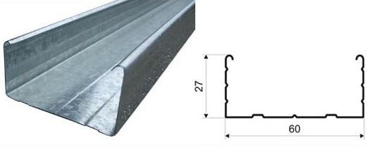 Профиль для гипсокартона направляющий CD 27х60 (металл 0.42)