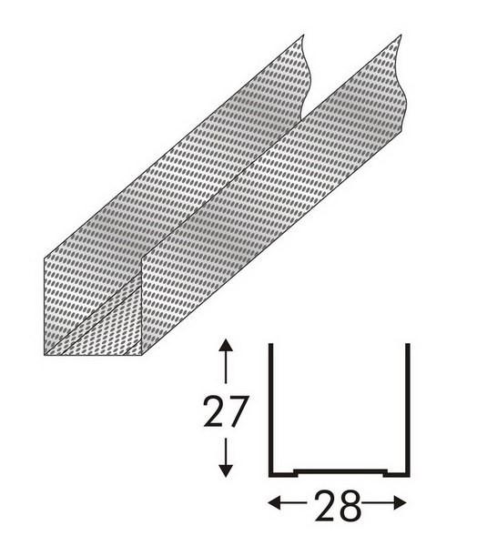 Профиль для гипсокартона UD 27х28 3м (0,42 металл)