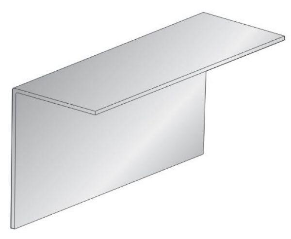 Профиль горизонтальный основной ФПУА100 Размер 50х50 Толщина 1,2 для вентилируемых фасадов