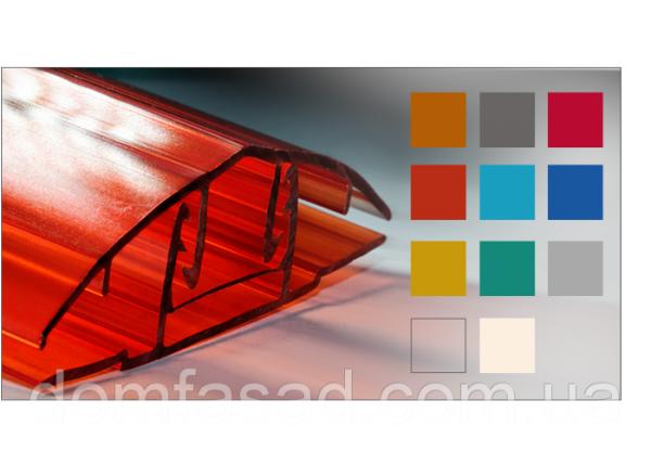 Фото  1 Профиль соединительный разъемного типа для поликарбоната 8-10, Бронза 1925453