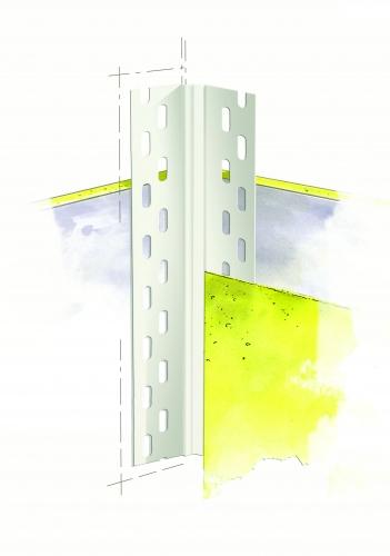 Профиль угловой ПВХ без сетки для непрямых углов