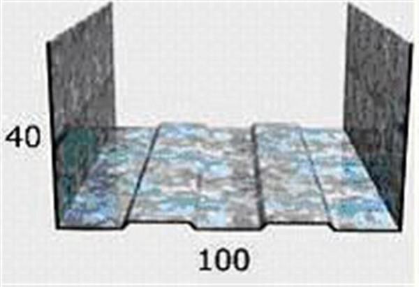 Профиль UW 100х40 3м металл 0.42