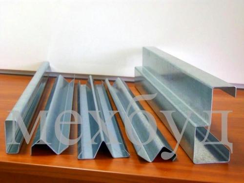 Профили гнутые (толщина металла до 2,0) Производим профили- Z, C, U, омега, уголок и др. Плинтус из нержавейки.