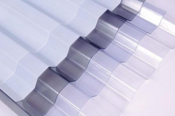 Профилированный монолитный поликарбонат SUNTUF. Волна 76 мм, высота 16ммРазмер:1260мм* 2440мм, другие размеры. Прозрачный