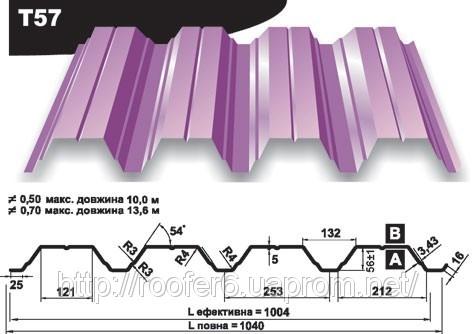 Профлист несущий (Т57, Т60, Т92, Т135, Т150, Т160)
